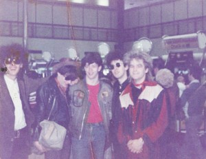 The Alarm At Heathrow Airport with Rob Bevis. May 30th 1983