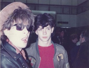 Dave Sharp At Heathrow Airport with Rob Bevis. May 30th 1983