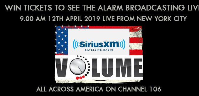 18c9679b1cd3b Win tickets to see The Alarm broadcasting live across the USA on Sirius Xm  Feedback this Friday morning 9AM EST   10AM PST